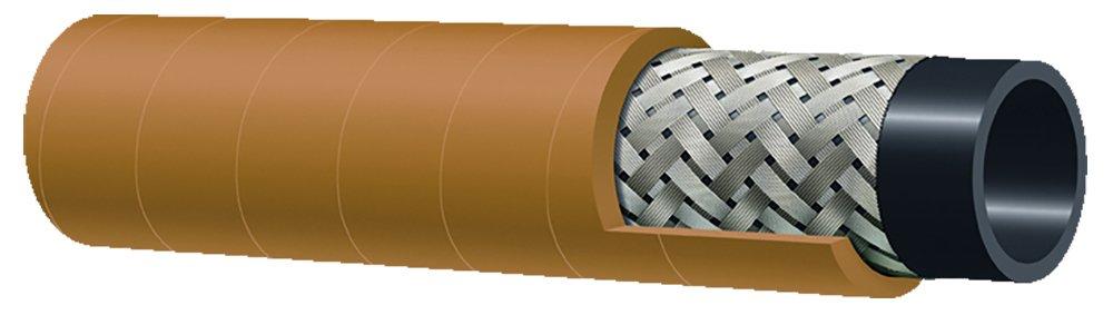 Kuriyama T140AK075X50 Braided Steel Wire Air Hose, 1.100'' Outside Diameter, 3/4'' Inside Diameter, Yellow