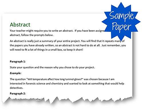 sample science fair paper