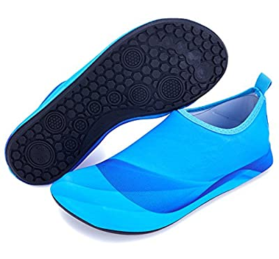 Giotto Barefoot Swim Water Shoes Quick Dry Non-Slip for Kids Women Men-Blue-36-37