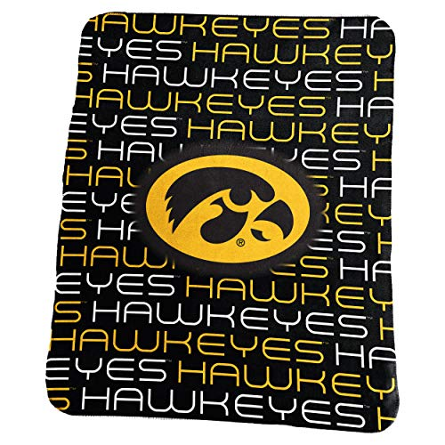 Logo Brands NCAA Iowa Hawkeyes Classic Fleece, One Size, ()