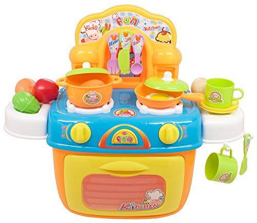 TECHEGE Toys LearnnPlay Kids Oven Cookware Set Boys and Girls Cooking Kitchen Learning Experience Fun Life Skills