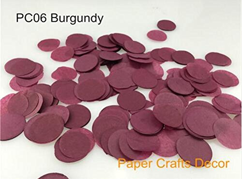 ) Round Tissue Paper Confetti Round Tissue Paper Confetti Wedding Party Table Decorations Balloon Kit, 30g (Burgundy) ()