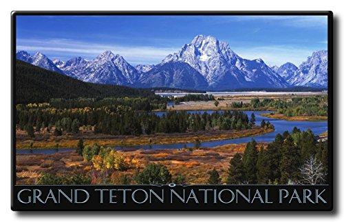 Grand Teton National Park Aluminum HD Metal Wall Art by Artist Ike Leahy ( 11