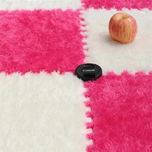 Carpet Interlocking Floor Tiles - Plush Carpet Area Rug - Puzzle Floor Mat - Interlocking Carpet Tiles, Thick, Non Toxic, Anti-Fatigue, Fluffy,Premium Foam Mat by Meng Ge (Image #1)