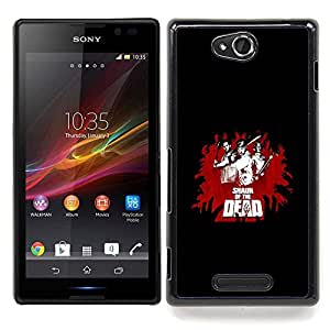 cool funny movie of dead fight black red Caja protectora de pl??stico duro Dise?¡Àado King Case For Sony Xperia C S39h C2305