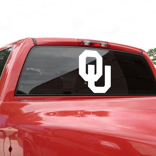 Wincraft NCAA Oklahoma Sooners 18'' x 18'' White Logo Decal ()