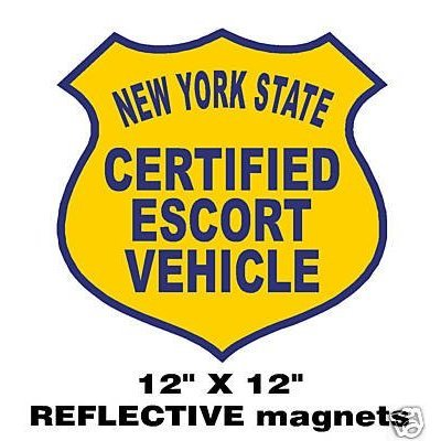 (One Certified Escort Vehicle Magnetic Sign Pilot Car Magnet)