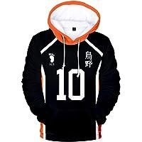 TISEAS Mens Haikyuu Hoodies Hinata Shoyo Oikawa Tooru Shiratorizawa Moniwa Kaname Volleyball Cosplay Costume Hoodie