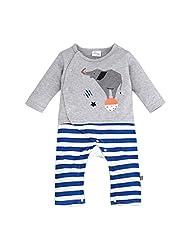 Happy Cherry Baby Girls Long Sleeve Elephant Romper Striped Sleepwear Cute Pajamas Jumpsuit