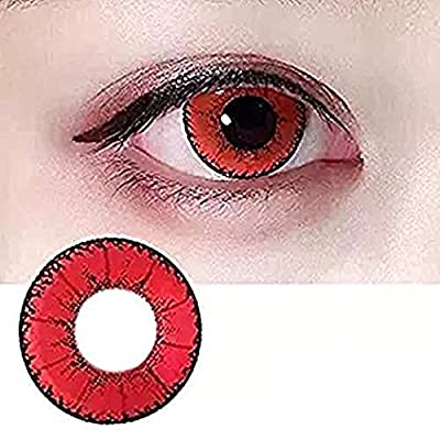 KFIAQ 5 Colors Eyes Color Contacts Lens Eyes Cosmetic Makeup Eye Shadow (red)