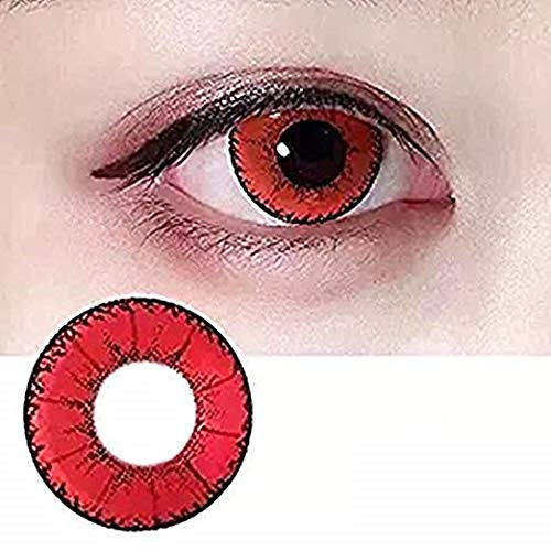KFIAQ 5 Colors Eyes Color Contacts Lens Eyes Cosmetic Makeup Eye Shadow (red) -