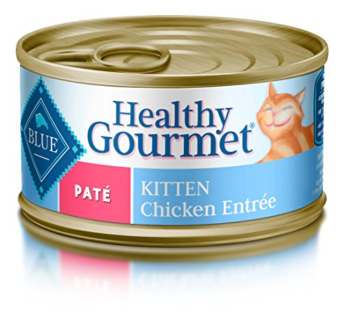 Blue Buffalo Healthy Gourmet Natural Kitten Pate Wet Cat Food, Chicken 3-oz Cans (Pack of 24) (Best Natural Kitten Food)