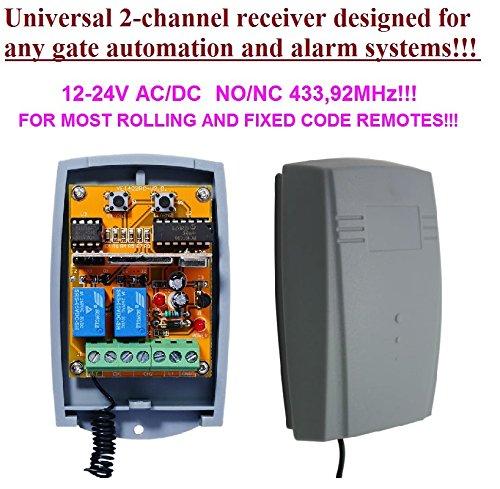 V2/wally1//wally2//wally4/compatibile modulo ricevitore radio in gomma 12/ 2/canali Ricevitore universale per V2/Phoenix TSC TRC TXC apricancello phox cellulare /24/V AC//DC