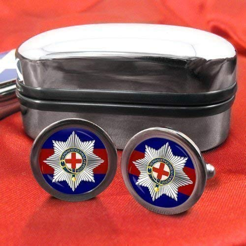 Coldstream Guards Mens Cufflinks with Chrome Gift Box