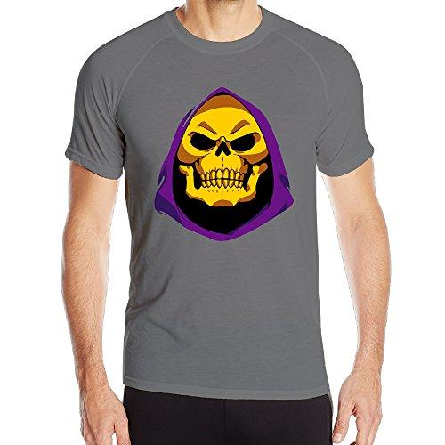 [SAMMOI LOL Skeletor 1 Men's Cool Short Sleeves T M DeepHeather] (Grumpy Cat Costume Ideas)