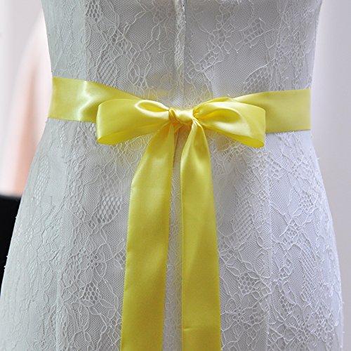 Azalee Di Donne Nuziale Ghigliottina Fusciacche Per Cinture Di Delle Colore Cristallo Giallo Matrimonio Nozze Cinghia qffwXO48z