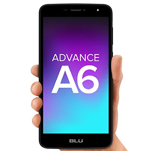 "BLU A190P BLACK Advance A6 -Unlocked Dual Sim Smartphone - 6.0"" HD Display - Black"