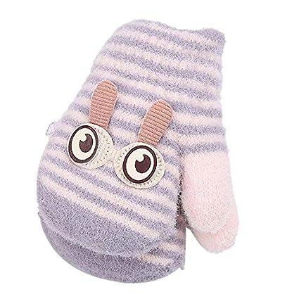 Kakoop 1 Doppel 1 Verkauf; niedliche gro/ße Augen Kaninchen stricken warme Handschuhe Winterhandschuhe Handschuhe Baby Cartoon Handschuhe Hand verdickt Doppel stricken Pl/üschhandschuhe