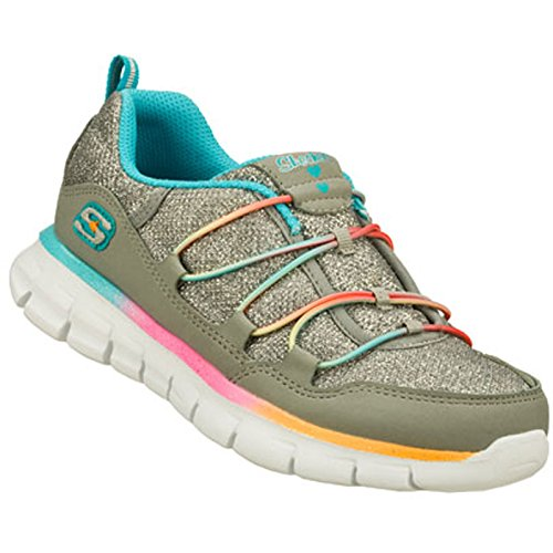 Skechers Girls Synergy Loving Life,Gray/Multi,US 11 M