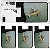 Liili Phone Card holder sleeve/wallet for iPhone Samsung Android and all smartphones with removable microfiber screen cleaner Silicone card Caddy(4 Pack) ID: 22613923 Giant Catfish Pangasianodon giga