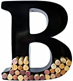 Wine Cork Holder - Metal Monogram Letter (B)