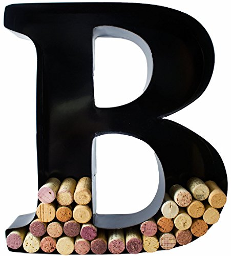 Cork Display (Wine Cork Holder - Metal Monogram Letter (B))