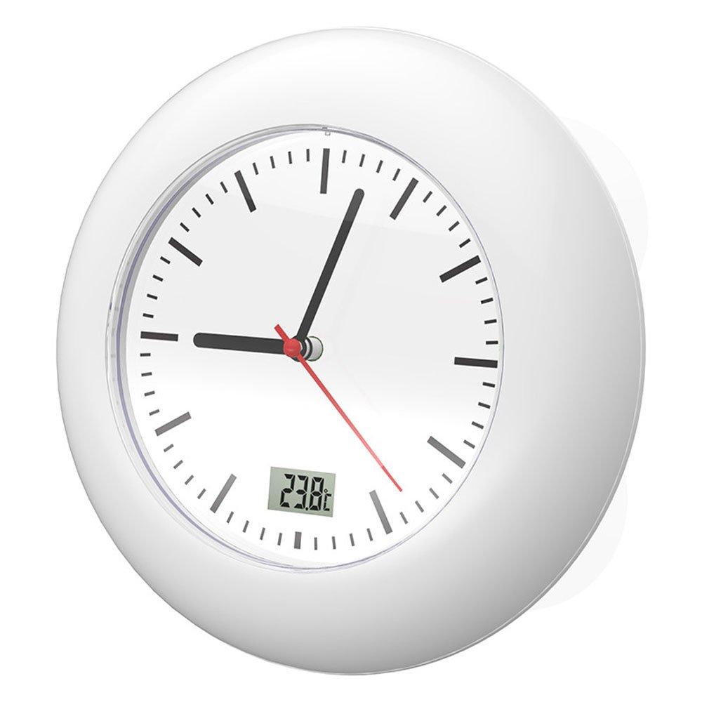 BALDR Bathroom Clock Waterproof Analog, White