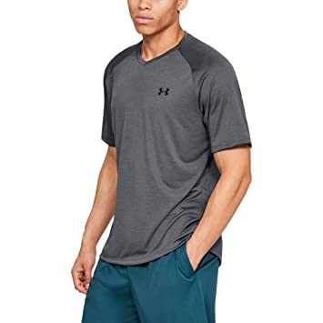 Under Armour Tech V-Neck 2.0 Manga Corta, Pitch Gray (012)/Black ...