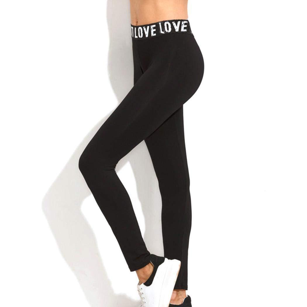Sliwei Leggings de yoga de retazos de alta longitud el/ástica de moda para mujer Leggings