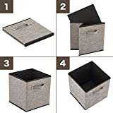 EZOWare 4 Pack Fabric Foldable Cubes Bin