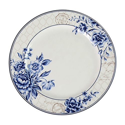 Finecasa Chinese Style Personalized Design Blue Dream Series Bone China 10-inch Steak Plate