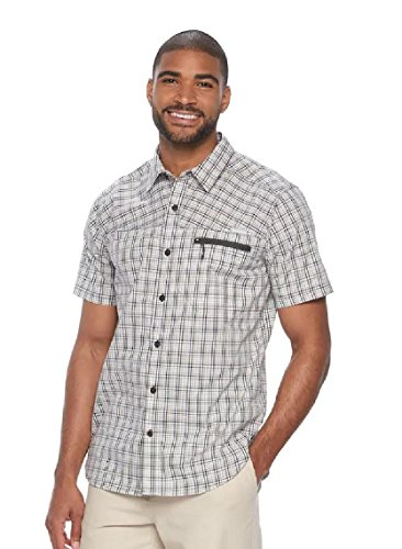 Classic Fit Plaid Shirt (Columbia Men's Sycamore Falls Classic-Fit Shirt (Shark Small Plaid, Large))