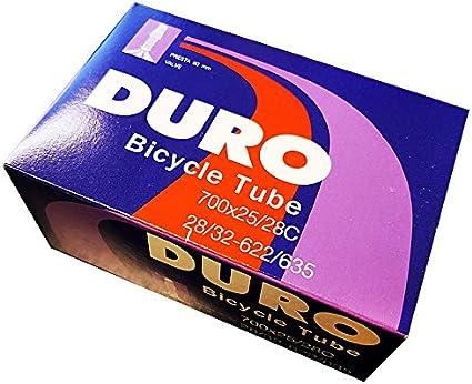 Bicycle Duro Inner Tube 700 x 25c//28c 60mm Presta