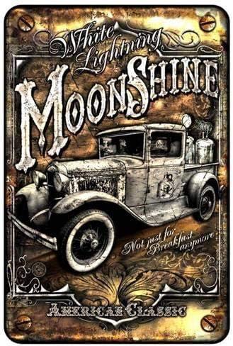 Amazon.com: BinLtd Moonshine Truck - Cartel de metal (3.1 x ...