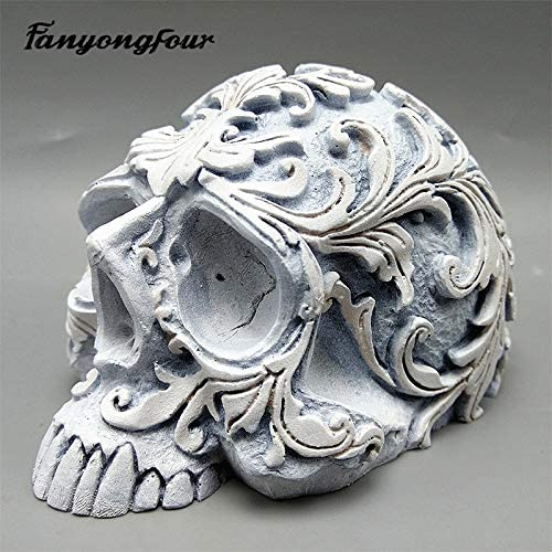 Laliva Horror Skull 3D Mold Silicone Crafts Candle Soap Mold Chocolate Cake Mold Halloween Decoration Tools