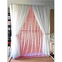 ON SALE 4FTx7FT Sequin backdrops,Fuchsia Pink Sequin photo booth backdrop, Party backdrops, Wedding backdrops, sparkling backdrops , Christmas decoration (Fuchsia Pink)