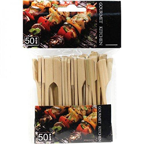 100 Bambus Holzspieße Partyspieße Dekospieße Party Deko Spieß Spiesse 9cm (2*50 Stk)