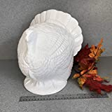 Large Table Top White Ceramic Turkey Thanksgiving centerpiece Statue THE BIG BIRD