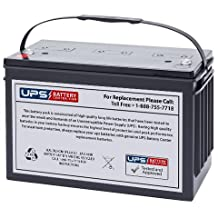 12V 100AH Deep Cycle Replacement Marine Boat Battery - F8 Terminals