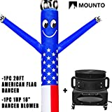MOUNTO 20ft Air Puppet Dancer with 1HP blower Complete Set, 20-Feet 18Inch (US FLAG)