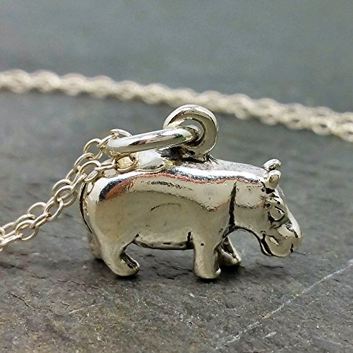 (Hippopotamus Necklace - 925 Sterling Silver)