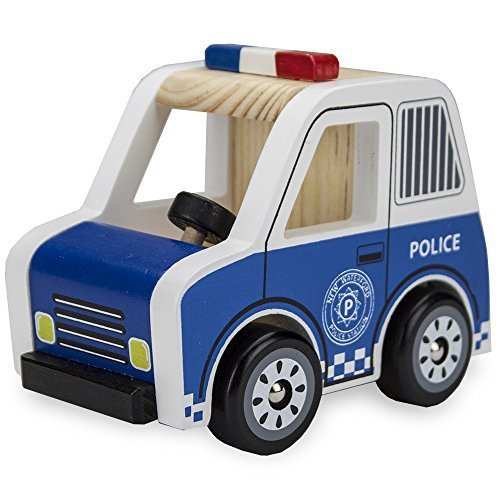 Wooden Wheels Natural Beech Wood Police Cruiser by Imagination Generation by Imagination Generation