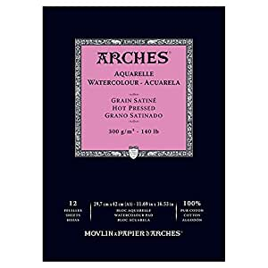 "Arches Water Colour Pad, Natural White, 11.69""x16.53"""