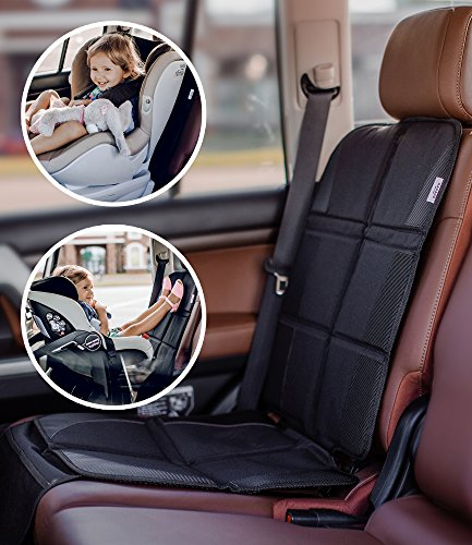 Infant Rear Facing Car Seat Cover - Car Seat Protector - Premium Carseat Auto Cover - For Baby & Infant Safety Seat as Kick Mat - Covers your Expensive Leather Seats with Thick Pad - Waterproof and Dirt Resistant - For SUV, Sedan, Truck