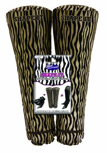 Just Solutions Inflatable Boot Shapers, Zebra - For Storage and Travel