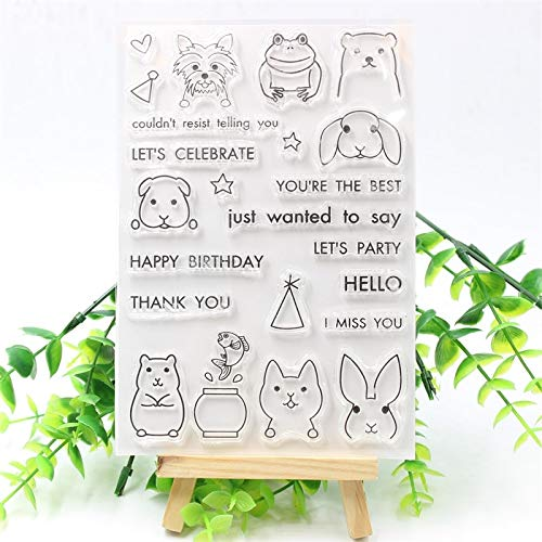 Dalab PEEK-A-Boo PALS Transparent Clear Silicone Stamp/Seal for DIY Scrapbooking/Photo Album Decorative Clear Stamp 366 ()