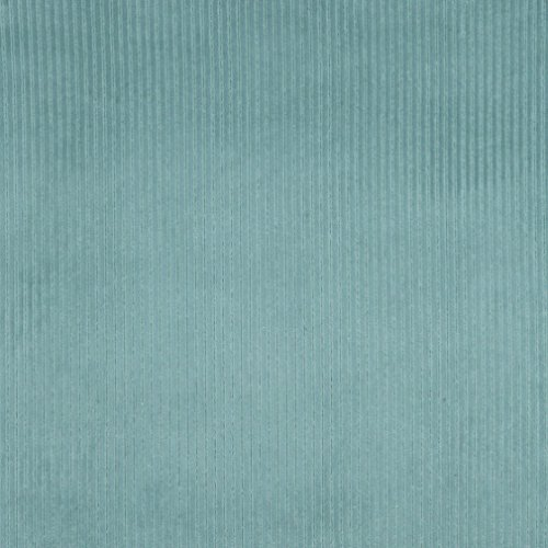 E383 Teal Corduroy Striped Velvet Upholstery Fabric By The Yard (Fabric Velvet Striped)