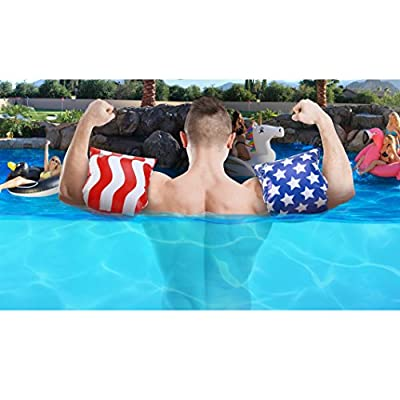 GoFloats America Flag Adult Water Wing Floaties - Own The Pool (Novelty USE ONLY): Sports & Outdoors