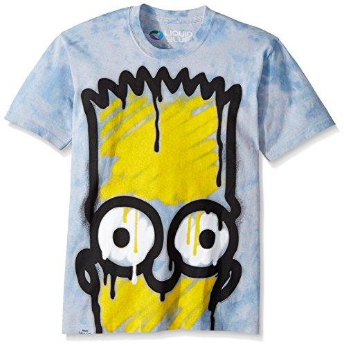 Liquid Blue Men's El Barto T-Shirt, Tie Dye, Small ()