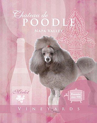 Dog Poster Poodle Wine Vineyard company motivational love Vintage cute Dog Poster saying 11×14 Art Retro Print 51jflLn6wFL